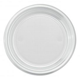 Plastic Plate PS Flat Clear Ø22 cm (30 Units)