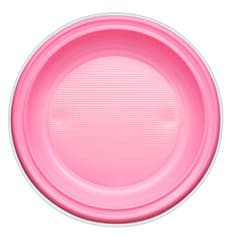 Plastic Plate PS Deep Pink Ø22 cm (30 Units)