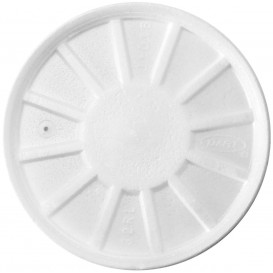 Foam Vented Lid White Ø11,7cm (50 Units)