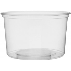 Plastic Deli Container Clear PP 300ml Ø10,5cm (100 Units)