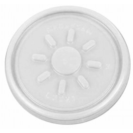 Plastic Lid PS Clear Flat for Foam Container Ø7,4cm (100 Units)