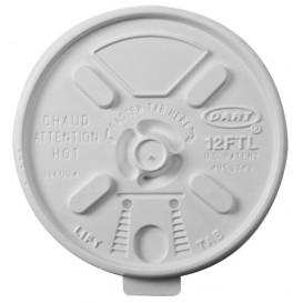 Plastic Lid PS Resealable White Ø8,9cm (1000 Units)
