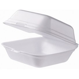 Foam Burger Boxes Take-Out Small size White (500 Units)