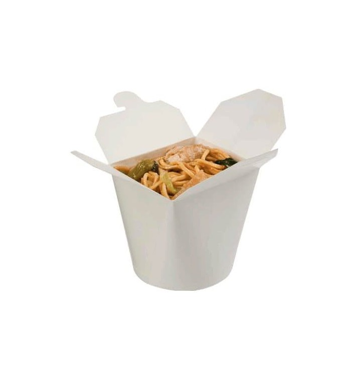 Paper Take-out Container White 529ml (500 Units)