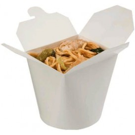 Paper Take-out Container White 529ml (50 Units)