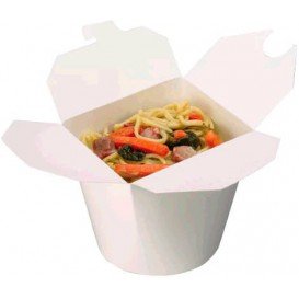 Paper Take-out Container White 800ml (50 Units)