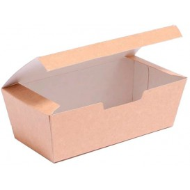 Paper Take-Out Box Kraft 16,5x7,5x6cm (600 Units)