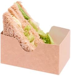 Paper Sandwich Container Kraft (25 Units)