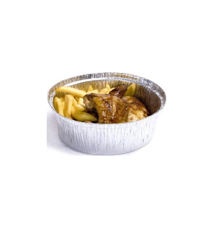 Foil Pan for Roast Chicken Round Shape 1900ml (500 Units)