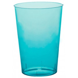"Plastic Cup PS ""Moon"" Turquoise Clear 230ml (1000 Units)"