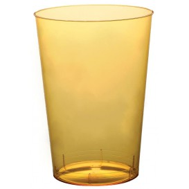 "Plastic Cup PS ""Moon"" Yellow Clear 230ml (50 Units)"