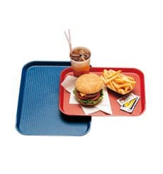 Plastic Tray Fast Food Red 30,4x41,4cm (24 Units)