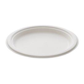Sugarcane Plate White Ø23 cm (500 Units)