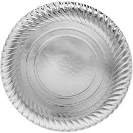 Paper Plate Round Shape Silver 30cm (100 Units)