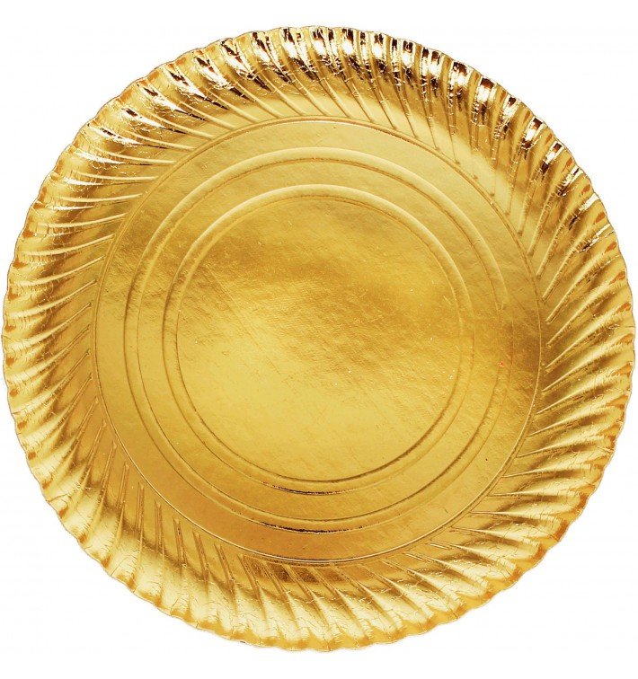 Paper Plate Round Shape Gold 30cm (400 Units)