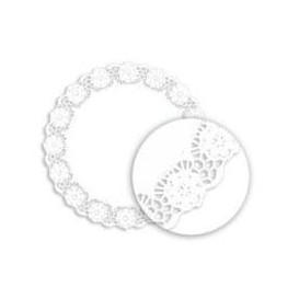 """Paper Lace Doilie """"Litos"""" White Ø18cm (2000 Units)"""