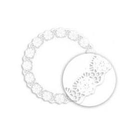 """Paper Lace Doilie """"Litos"""" White Ø32cm (1000 Units)"""