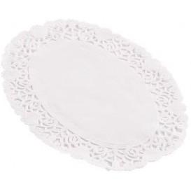 """Paper Lace Doilie Oval Shape """"Litos"""" White 18x25cm (250 Units)"""