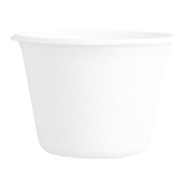 Sugarcane Container White 140ml (50 Units)