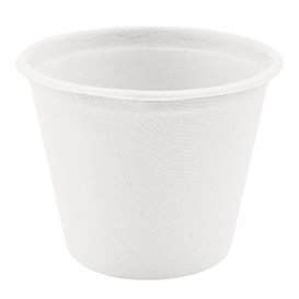 Sugarcane Container White Ø9,5cm 425ml (600 Units)
