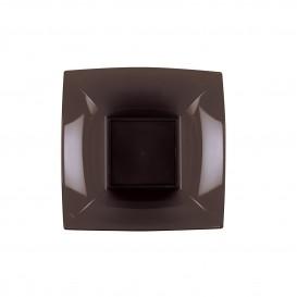 "Plastic Plate Deep Brown ""Nice"" PP 18 cm (300 Units)"