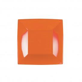"Plastic Plate Flat Orange ""Nice"" PP 18 cm (25 Units)"