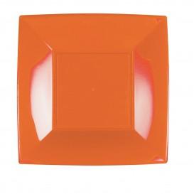 "Plastic Plate Flat Orange ""Nice"" PP 23 cm (300 Units)"