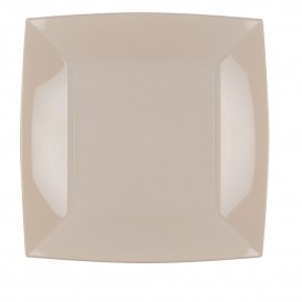 "Plastic Plate Flat Beige ""Nice"" PP 23 cm (300 Units)"