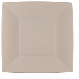 "Plastic Plate Flat Beige ""Nice"" PP 29 cm (12 Units)"