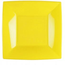 "Plastic Plate Flat Yellow ""Nice"" PP 29 cm (12 Units)"