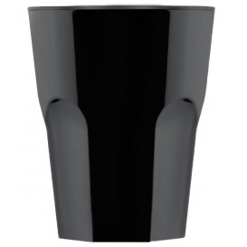 "Plastic Glass SAN Reusable ""Rox"" Black 300ml (8 Units)"