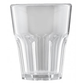 "Plastic Glass SAN Reusable ""Rox"" Clear 300ml (8 Units)"