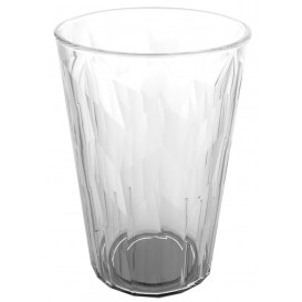 "Plastic Glass SAN Reusable ""Granity"" Ice Clear 420 ml (75 Units)"