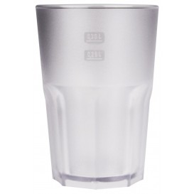 "Plastic Glass SAN Reusable ""Frost"" Clear 400 ml (5 Units)"