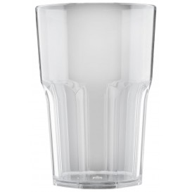 "Plastic Glass SAN Reusable ""Granity"" Clear 400 ml (5 Units)"