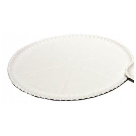 Plato para Pizza de Carton blanco Ø33cm (100 Uds)