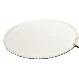 Paper Pizza Plate White Ø33cm (200 Units)