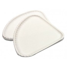 Paper Pizza Plate White Triangular Shape 1/4 30x21 (100 Units)