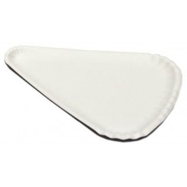 Paper Pizza Plate White Triangular Shape 1/8 24x18 (1000 Units)
