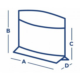 Paper Food Envelope Grease-Proof Kraft 21x17/11x3cm (100 Units)