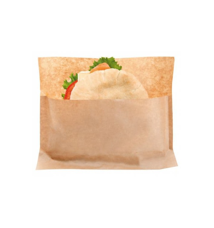 Paper Food Envelope Grease-Proof Kraft 21x17/11x3cm (2400 Units)