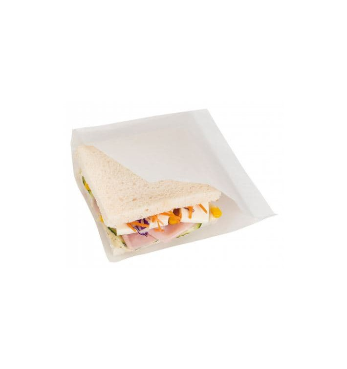 Paper Bag Grease-Proof Opened L Shape 15x15,2cm White (100 Units)