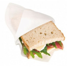 Paper Bag Grease-Proof Opened L Shape 18x18,2cm White (100 Units)