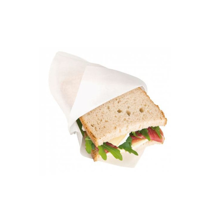 Paper Bag Grease-Proof Opened L Shape 18x18,2cm White (3000 Units)