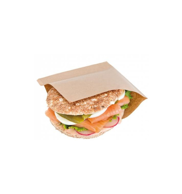 Paper Bag Grease-Proof Opened L Shape 15x15,2cm Natural (4000 Units)