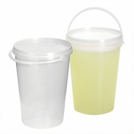 Cubo Transparente con Asa 1000 ml (200 Uds)