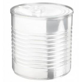 Tasting Plastic Tin Can PS Clear 220ml Ø7,4x7cm (100 Units)