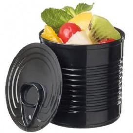 Tasting Plastic Tin Can PS Black 110ml Ø6x5,7cm (200 Units)