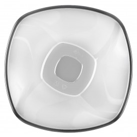 "Plastic Bowl PS Crystal Hard ""Square"" 1250ml Ø21cm (60 Units)"