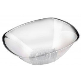 "Plastic Bowl PS Crystal Hard ""Square"" 3000ml Ø27,7cm (3 Units)"